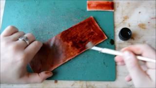 Уроки работы с кожей. Делаем практичную ключницу. Патина морилкой. Советы от www.muzylevstyle.ru
