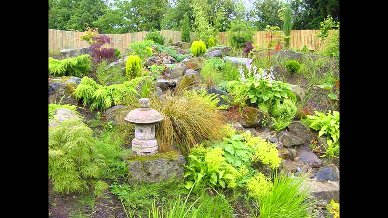 Sloped garden design ideas - YouTube
