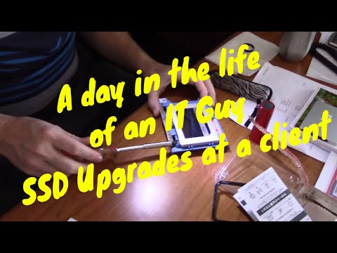A Day In The Life Of An IT Guy - SSD Upgrades At Client.