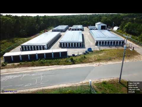 700KW Self Storage Facility Rooftop PV Array Brewster MA