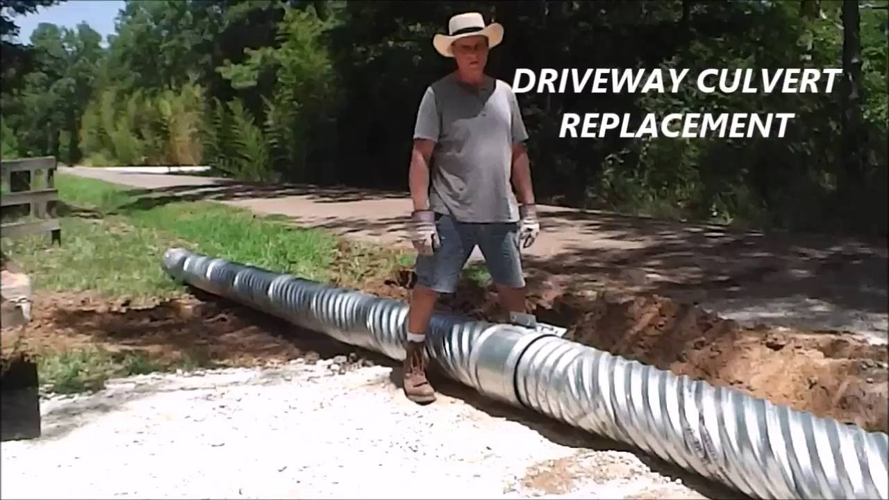 Driveway Culvert Replacement Youtube