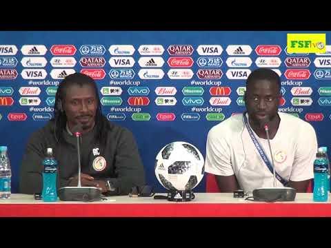 Aliou CISSE Coach de l'équipe du Sénégal, conférence de presse d'avant match Sénégal VS Pologne