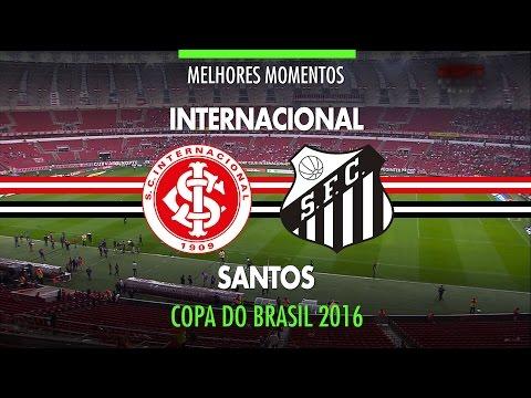 Melhores Momentos - Internacional 2 x 0 Santos - Copa do Brasil - 19/10/2016