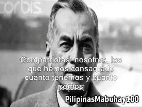 Alocución de don Manuel Luis Quezón, en español, hacia 1920