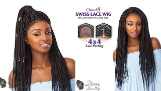 Lace front de trança- Box Braid
