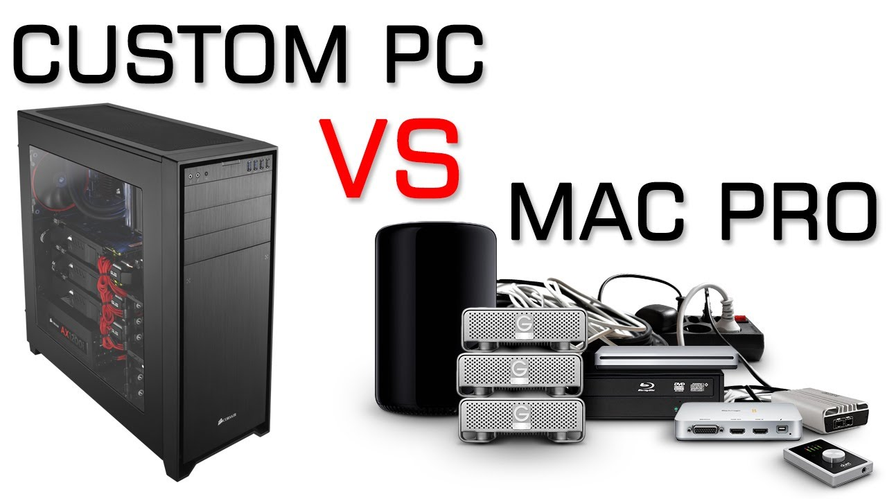 macs vs pc My new pc has 8 slots for hard drives on my mac, you can't add any internally all of this is super easy with a pc, but with the new mac pro, it's almost impossible mac-vs-pc-2 third party render engines like octane and redshift are dominating our space and if you want to keep up, you need gpu power and lots of it.