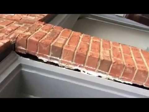JSA Lifting Up Center Garage Brick Column in Alpharetta Johns Creek Ga
