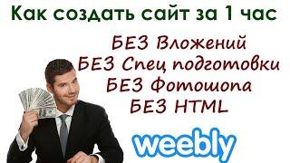 Как создать сайт за 1 час на weebly