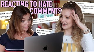 REACTING TO HATE COMMENTS WITH MY MUM... (this was SAVAGE)🔥