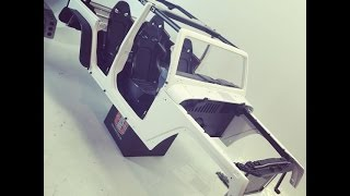 Capo Racing 1/8th Jeep Wrangler - Body & Interior - Episode 2