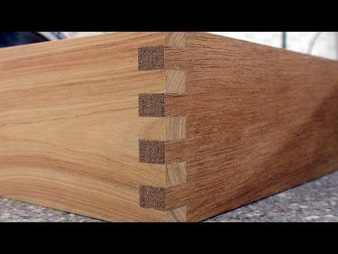 How to make box joints step by step with Dave Stanton woodworking