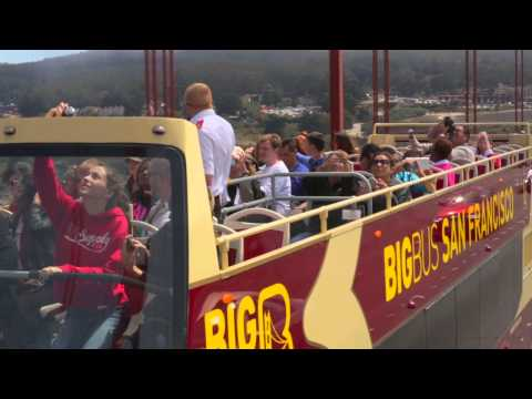 San Francisco Double Decker Open Top Hop-On Hop-Off Bus Tour - Video