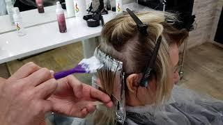 Мелирование и окраска корней Укладка волос