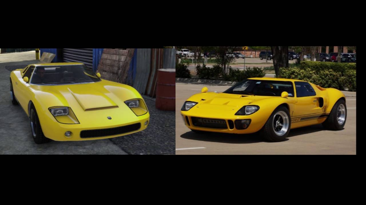 gta 4 car real life counterparts