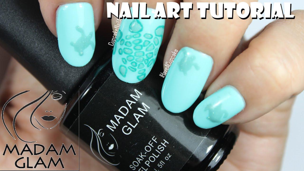 Madam glam nail art subtle sea turtle nails youtube prinsesfo Images