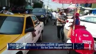 Marcha carabana contra el gasolinazo en San Juan Bautista Tuxtepec