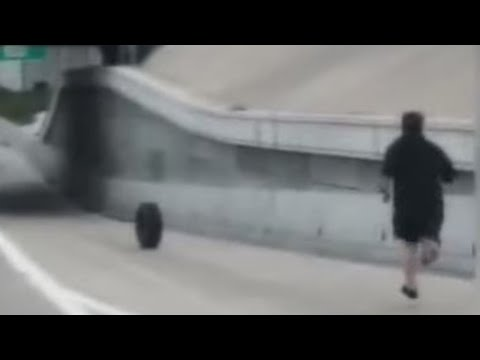 Ken Payne - Guy Chases After Tire That Came Off His Car On Interstate