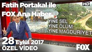 Rize'de sel felaketi... 28 Eylül 2017 Fatih Portakal ile FOX Ana Haber