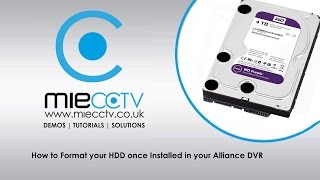 How to Initialise your HDD on your Alliance & Hikvision CCTV DVR