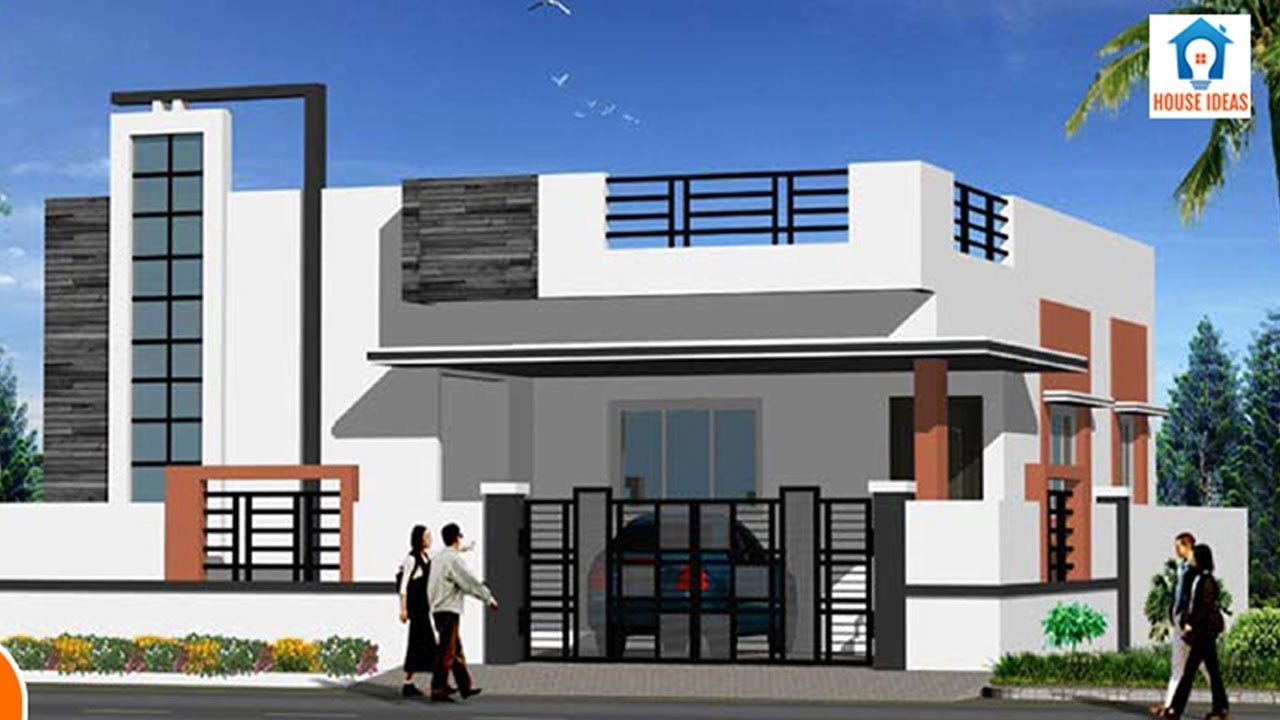 House front elevation designs for single floor | house ...