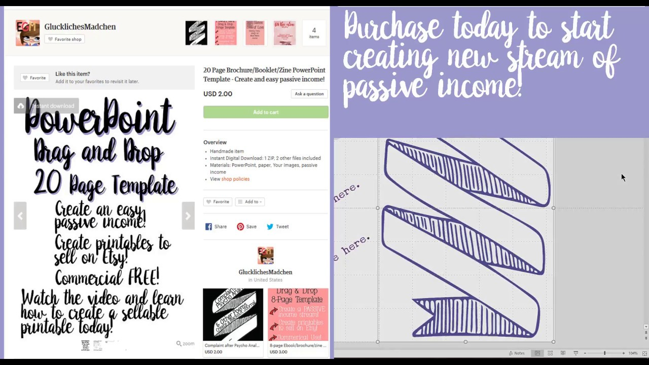 Passive Income With This 20 Page Booklet PowerPoint Template