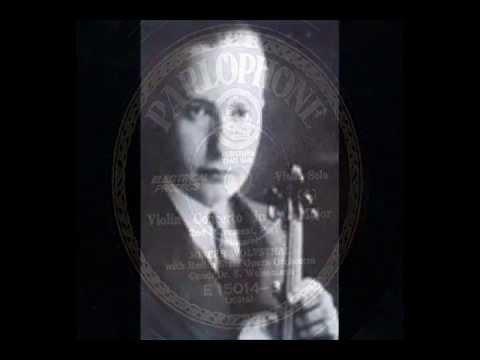 Josef Wolfsthal - Mozart : Violin Concerto No.5 in A - 2nd mov.
