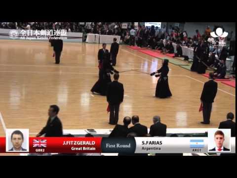 (GBR2)J.FITZGERALD H-MK S.FARIAS(ARG1) - 16th World Kendo Championships - Men's Individual_1R