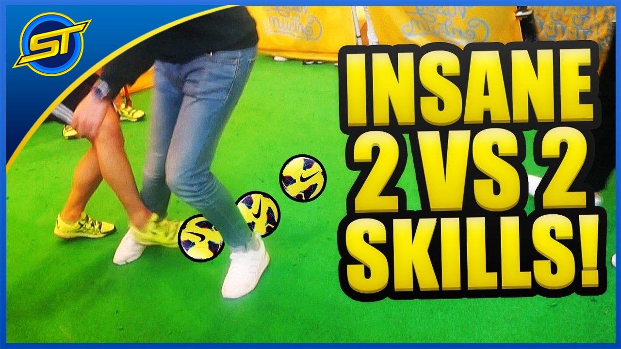 INSANE FOOTBALL SKILLS/TRICKS/PANNAS (2 vs 2) ★ SkillTwins