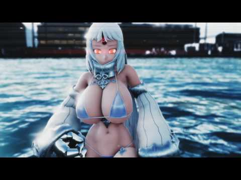[MMD-R18] Kancolle [Dameyo] Harbor Princess [60fps]