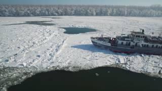 Ledolomac-razbijanje leda na Dunavu, 21.1.2017.