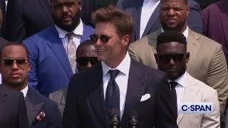 Tom Brady at the White House