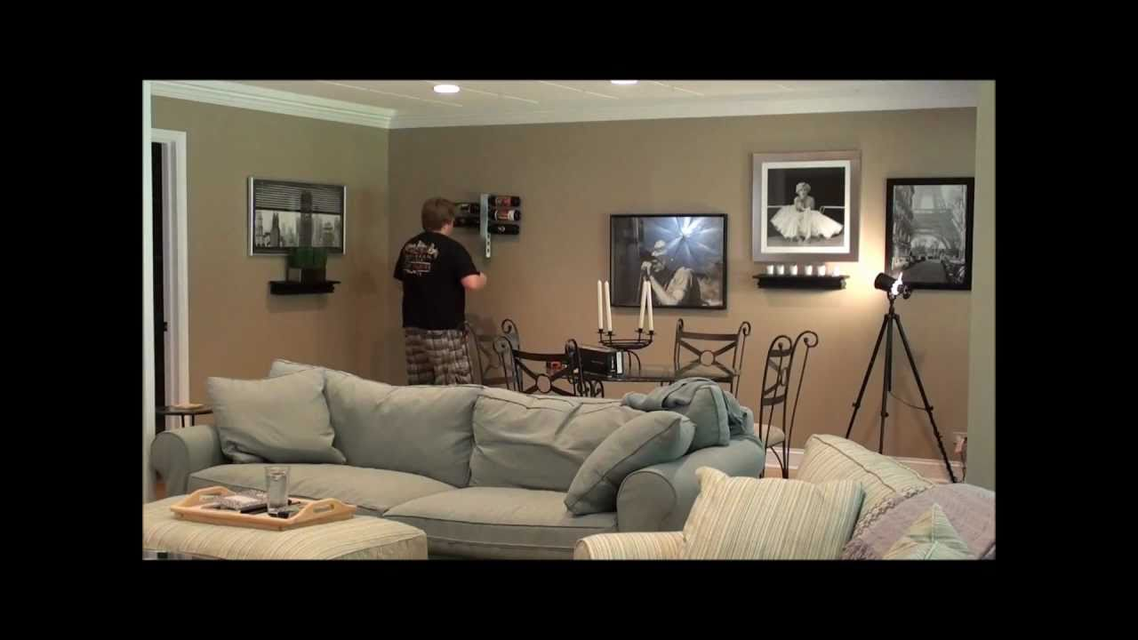 can you put a wine rack in living room cheap curtains for rare cuts video how to install vynebar vertical display with style