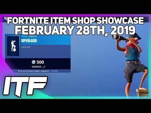 Fortnite Item Shop FISHSTICK IS BACK + *NEW* SPYGLASS EMOTE! [February 28th, 2019]