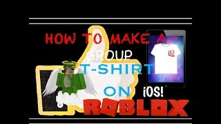 How To Make A Group T-Shirt On iOS | ROBLOX | GDM