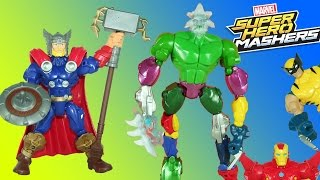 super hero mashers avengers thor defeats the frost giant w captain america iron man hulk wolverine