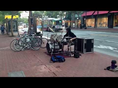 Epic sf drummer. Andrew Byrne.