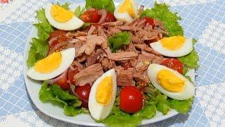 САЛАТ с ТУНЦОМ Легкий Вкусный и Полезный #Рецепты Салатов