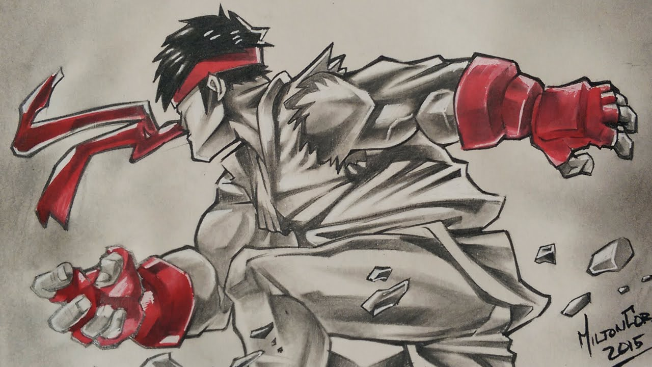 Drawing Ryu Street Fighter Udon Comics Youtube