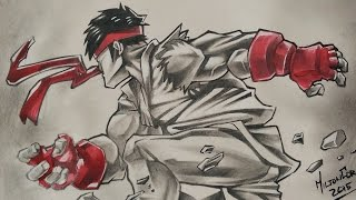 Drawing Ryu - Street Fighter - UDON Comics