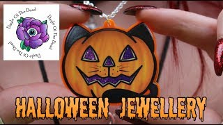 BLACK CAT PUMPKIN NECKLACE - Dayle Of The Dead Jewellery Review