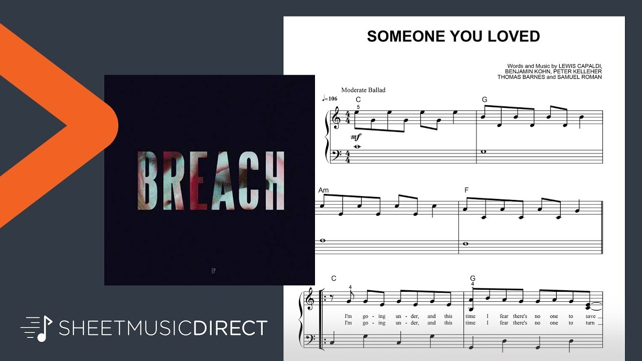 Someone you loved piano notes easy
