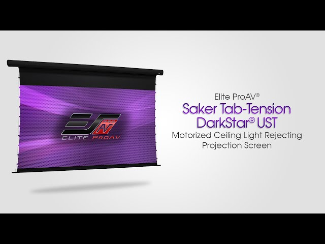 Elite ProAV® Saker Tab-Tension CLR® - Motorized Ambient/Ceiling Light Rejecting Projection Screen