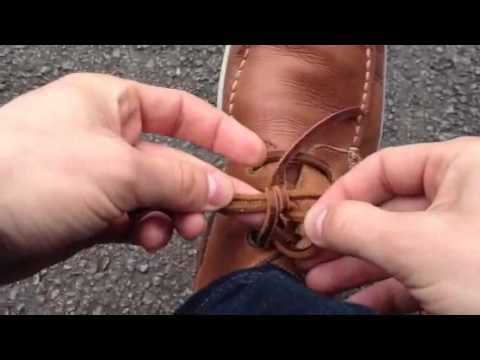 How to tie leather laces / Comment