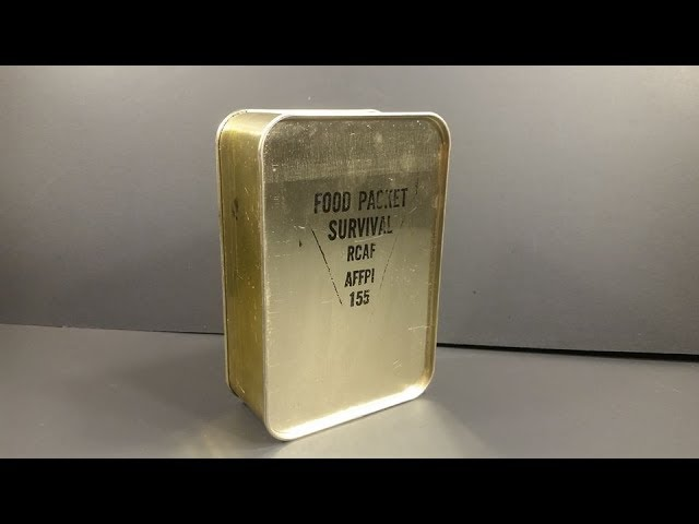 1955 Royal Canadian Air Force Food Packet Survival MRE Review Emergency Ration Meal Ready to Eat