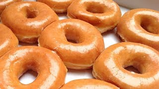 Homemade Glazed Doughnuts (Krispy Kreme glazed donuts) Best Donuts Recipe