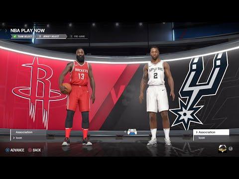 NBA LIVE 18 - San Antonio Spurs vs Houston Rockets