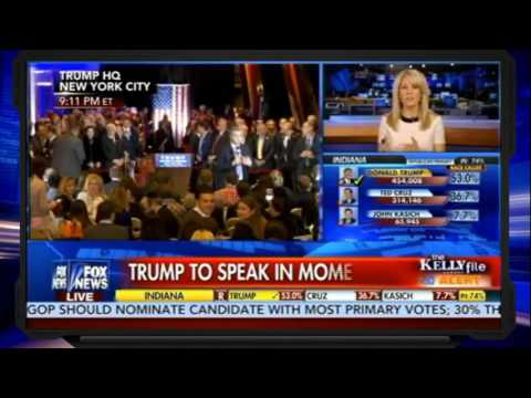 The Kelly File 5/3/16 | Indiana Primary, Donald Trump wins Indiana Primary, Ted Cruz Drops
