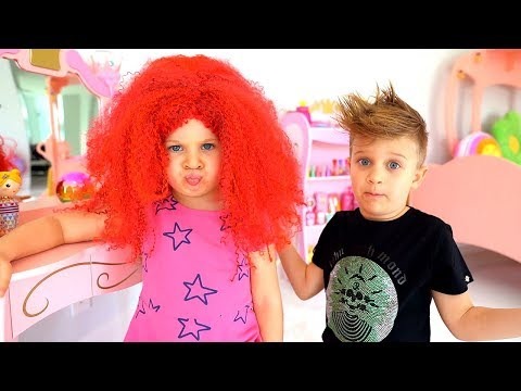 Diana Pretend Play Hair Styling Beauty Salon & Cute Kids Hair Styles Toys