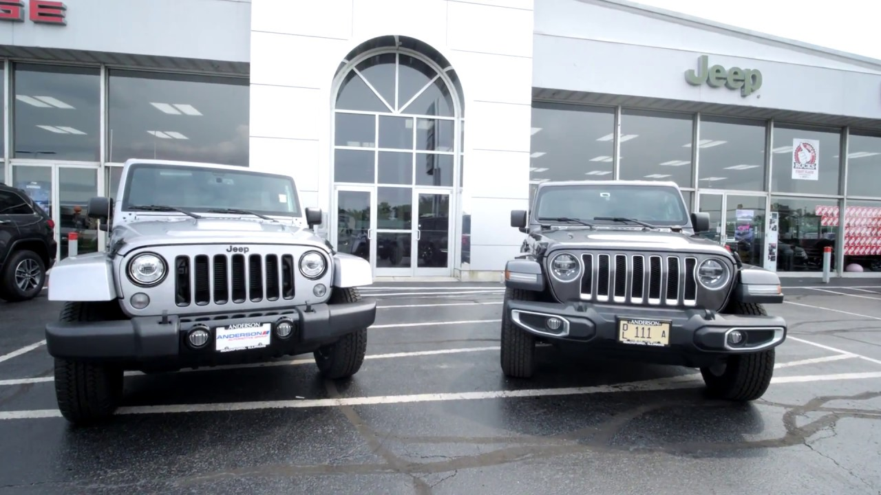 Five New Features On The 2018 Jeep Wrangler Jl Vs Jk At Anderson Jeep In Rockford Il Youtube