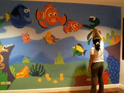 Mural Painting Nemo Theme Kid S Room Youtube